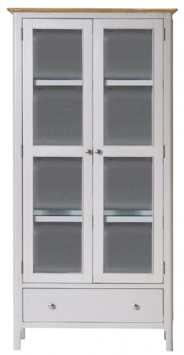 Scandia Grey Display Cabinet